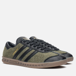 Кроссовки adidas Originals Hamburg Wool Pack Jungle Ink/Black/Gum фото- 1