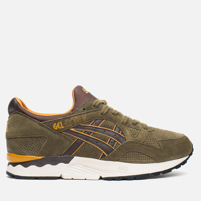 Мужские кроссовки ASICS Gel-Lyte V Olive/Dark Brown