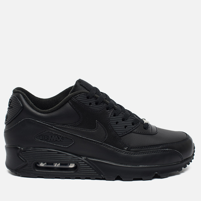 ee31e5d6 Мужские кроссовки Nike Air Max 90 Leather Black 302519-001