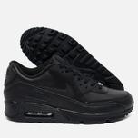 Мужские кроссовки Nike Air Max 90 Leather Black фото- 2