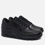 Мужские кроссовки Nike Air Max 90 Leather Black фото- 1