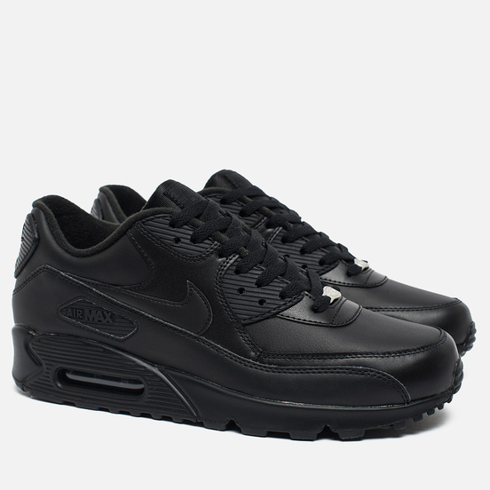 Мужские кроссовки Nike Air Max 90 Leather Black