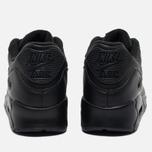 Мужские кроссовки Nike Air Max 90 Leather Black фото- 3