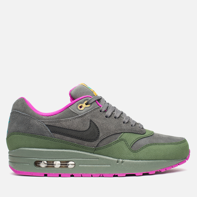 Мужские кроссовки Nike Air Max 1 Leather Dark Pewter/Carbon Green