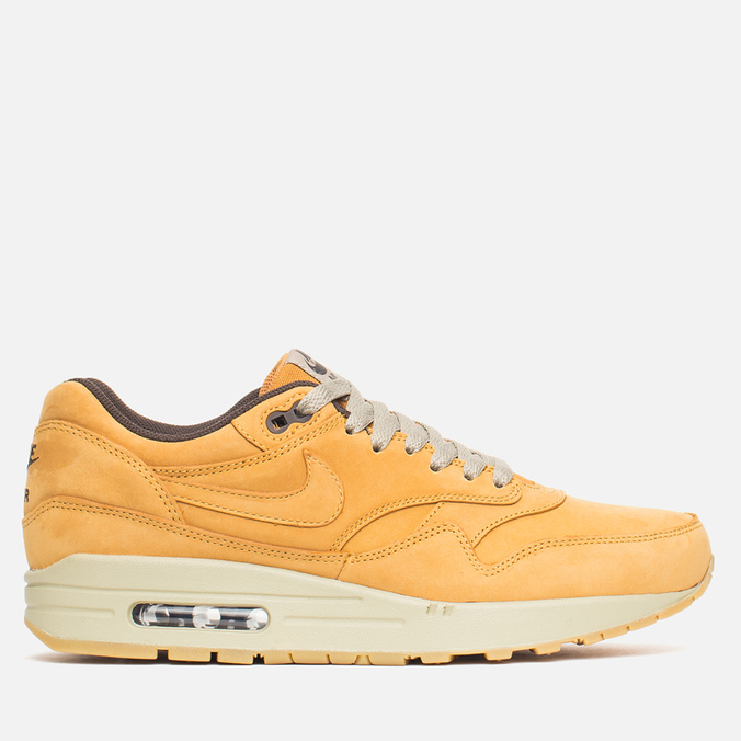 Мужские кроссовки Nike Air Max 1 Premium Leather Wheat Pack Bronze/Baroque Brown