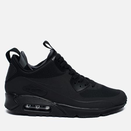 Мужские зимние кроссовки Nike Air Max 90 Mid Winter Black/Black