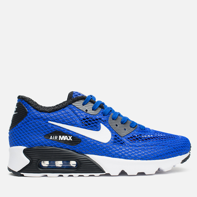 Nike Air Max 90 Ultra Breeze Plus QS Men's Sneakers Racer Blue/White/Black/Dark Grey