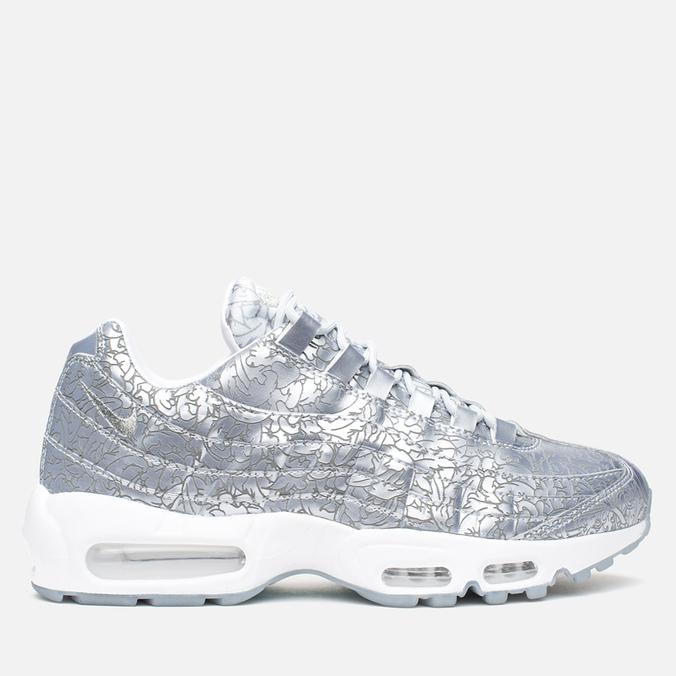 Nike Air Max 95 Anniversary QS Men's Sneakers Pure Platinum/Metallic Siver White