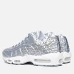 Nike Air Max 95 Anniversary QS Men's Sneakers Pure Platinum/Metallic Siver White photo- 2