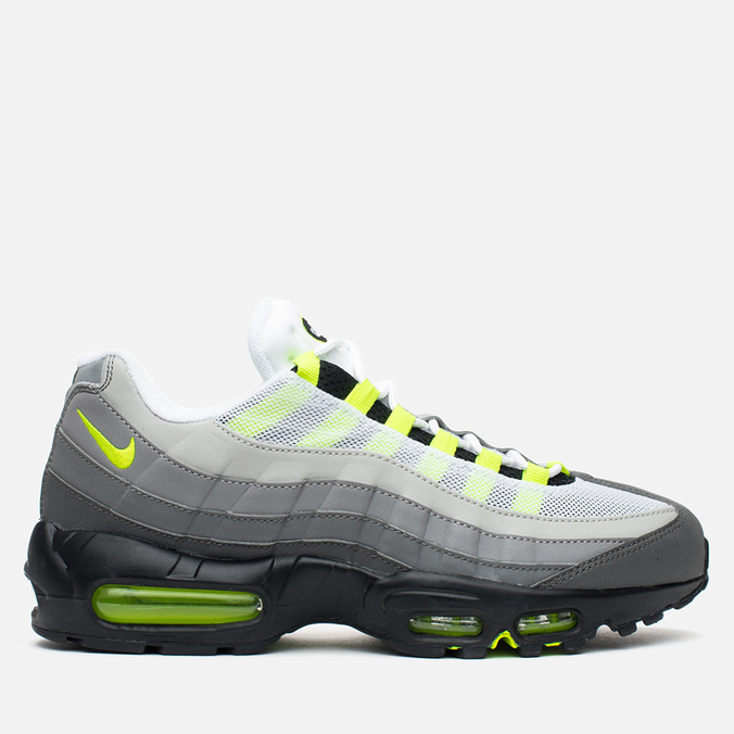 Мужские кроссовки Nike Air Max 95 OG Premium 3M Neon Medium Ash/Black/Volt/Dark Pewter