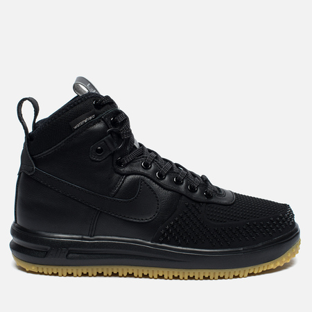 Мужские зимние кроссовки Nike Lunar Force 1 Duckboot Black/Metallic Silver/Anthracite