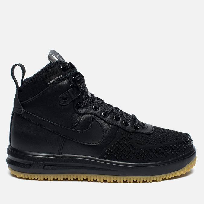 Мужские зимние кроссовки Nike Lunar Force 1 Duckboot Black/Metallic Silver/Anthracite