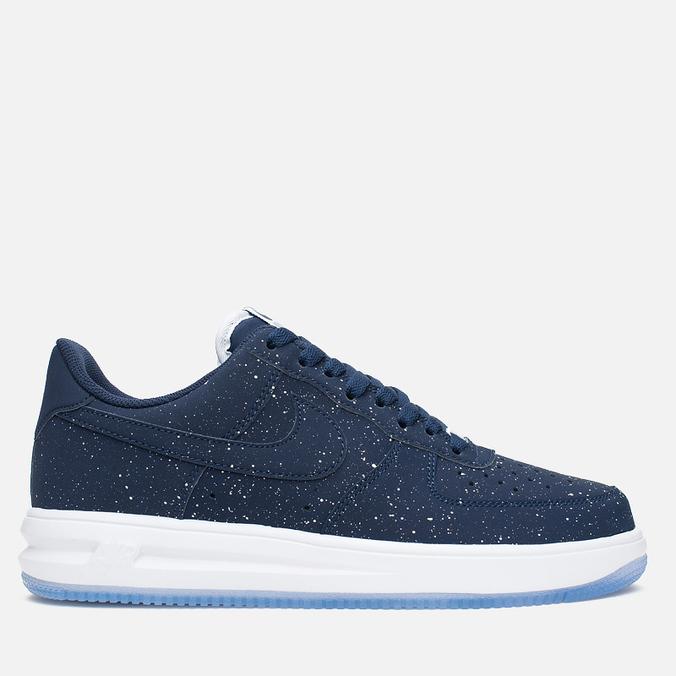 Nike Lunar Force 1 Splatter Pack Men's Sneakers Midnight Navy/White