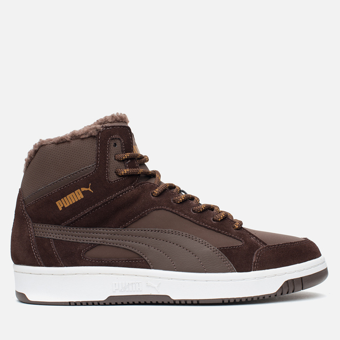 Puma Rebound v2 Fur Men's Sneakers Chocolate