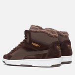 Puma Rebound v2 Fur Men's Sneakers Chocolate photo- 2