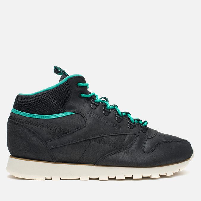 Мужские зимние кроссовки Reebok CL Leather Mid Trail Black/Green/Sepia