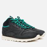 Мужские зимние кроссовки Reebok CL Leather Mid Trail Black/Green/Sepia фото- 1