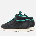 Мужские зимние кроссовки Reebok CL Leather Mid Trail Black/Green/Sepia фото- 2