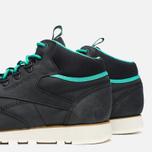 Мужские зимние кроссовки Reebok CL Leather Mid Trail Black/Green/Sepia фото- 5