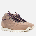 Reebok CL Leather Mid Trail Men's Sneakers Tapue/Paperwhite/Sepia/Orchid photo- 1