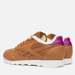 Кроссовки Reebok Classic Leather Alpine Brown Malt/Fuchsia/Chalk/Paperwhite фото- 2