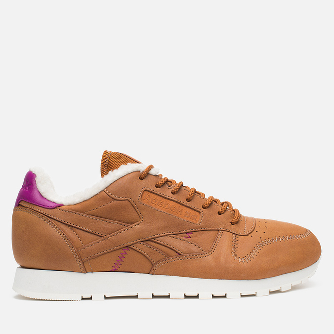 Кроссовки Reebok Classic Leather Alpine Brown Malt/Fuchsia/Chalk/Paperwhite