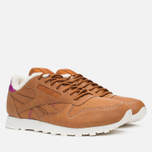 Кроссовки Reebok Classic Leather Alpine Brown Malt/Fuchsia/Chalk/Paperwhite фото- 1
