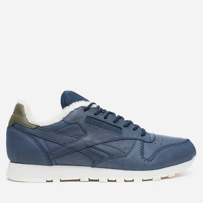 Кроссовки Reebok Classic Leather Alpine Navy/Olive/Chalk/Paperwhite