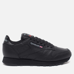 Кроссовки Reebok Classic Leather Black фото- 0
