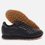 Reebok Classic Leather Sneakers Black/Gum photo- 2