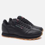 Reebok Classic Leather Sneakers Black/Gum photo- 1