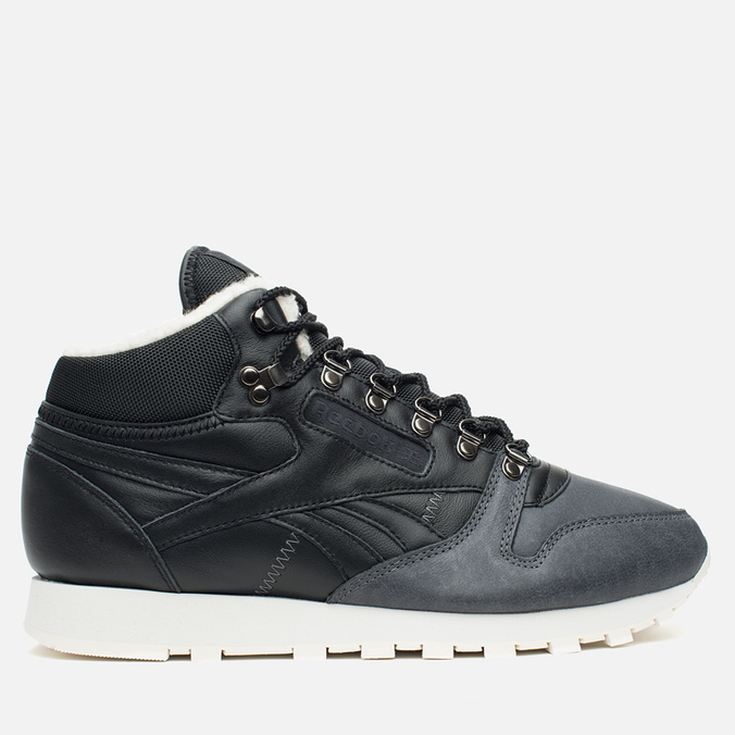 Зимние кроссовки Reebok Classic Leather Mid Sherpa Black/Gravel/Chalk/Paperwhite