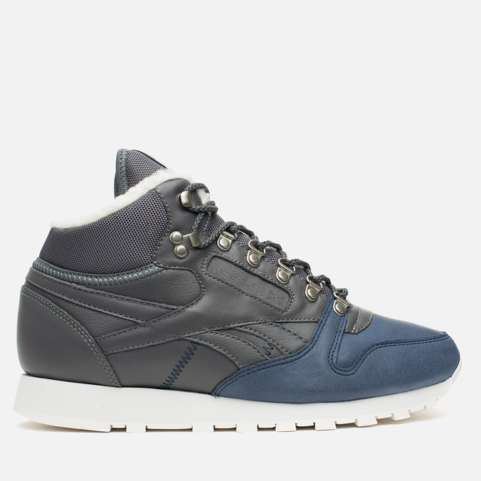 Reebok Classic Leather Mid Sherpa Men's Sneakers Grey/Navy/Chalk/Paperwhite