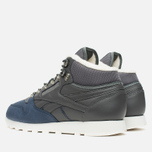 Зимние кроссовки Reebok Classic Leather Mid Sherpa Grey/Navy/Chalk/Paperwhite фото- 2