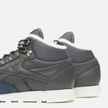 Зимние кроссовки Reebok Classic Leather Mid Sherpa Grey/Navy/Chalk/Paperwhite фото- 5
