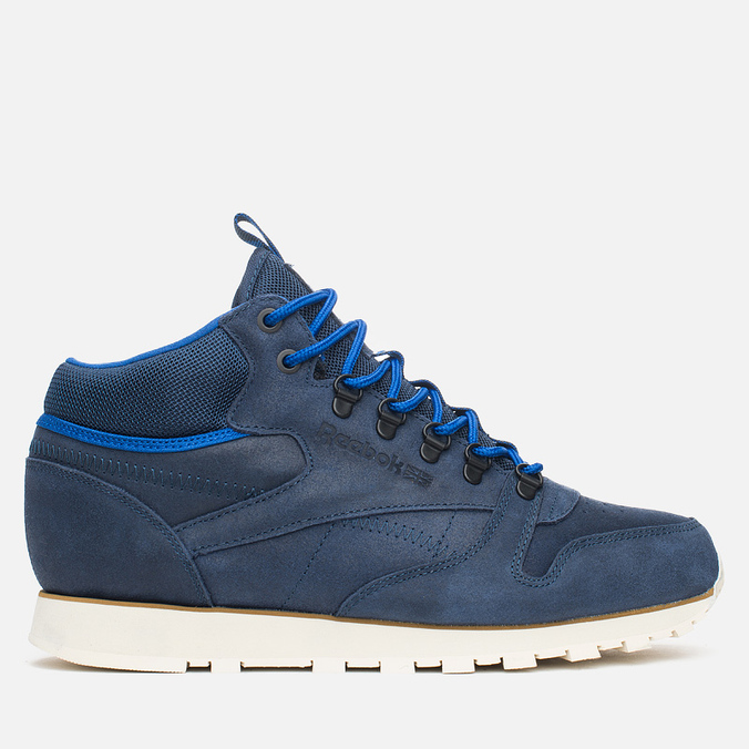 Мужские зимние кроссовки Reebok Classic Leather Mid Trail Navy/Royal/Paperwhite/Sepia