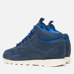 Мужские зимние кроссовки Reebok Classic Leather Mid Trail Navy/Royal/Paperwhite/Sepia фото- 2