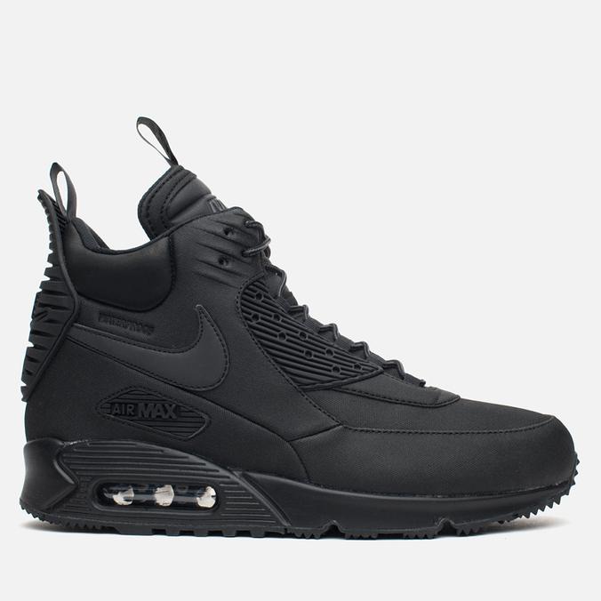 Мужские зимние кроссовки Nike Air Max 90 Sneakerboot Black/Black