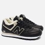 Зимние кроссовки New Balance ML574BL Black фото- 2