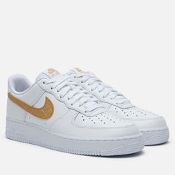 Кроссовки Nike Air Force 1 '07 LV8 White/Club Gold/White