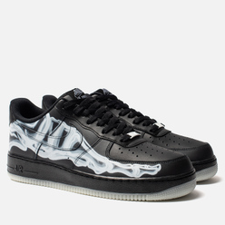 Мужские кроссовки Nike Air Force 1 '07 Skeleton QS Black/Black/Black