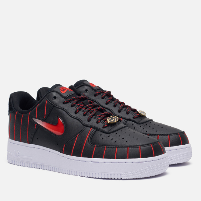 Кроссовки Nike Wmns Air Force 1 Low Jewel QS Chicago Black/University Red/Black/White