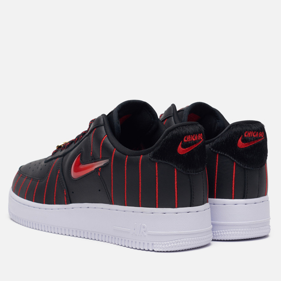 Женские кроссовки Nike Wmns Air Force 1 Low Jewel QS Chicago Black/University Red/Black/White