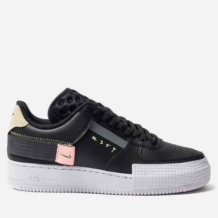 Кроссовки Nike Air Force 1 Low Type Black/Anthracite/Zinnia/Pink Tint
