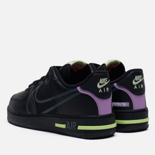 Кроссовки Nike Air Force 1 React Black/Anthracite/Violet Star/Barely Volt фото- 2