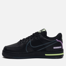 Кроссовки Nike Air Force 1 React Black/Anthracite/Violet Star/Barely Volt фото- 5