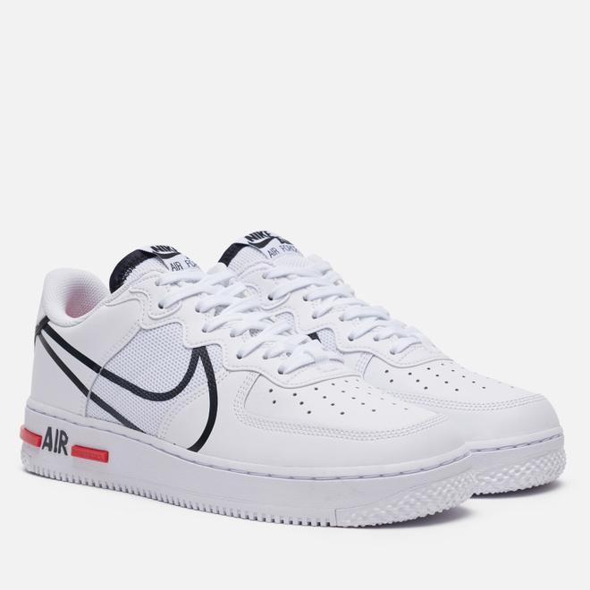 Кроссовки Nike Air Force 1 React White/Black/University Red