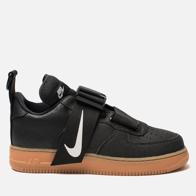 996097bb Кроссовки Nike Air Force 1 Utility Black/White/Gum Med Brown AO1531-002