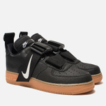 Кроссовки Nike Air Force 1 Utility Black/White/Gum Med Brown фото- 1