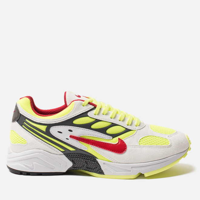 Кроссовки Nike Air Ghost Racer White/Atom Red/Neon Yellow/Dark Grey